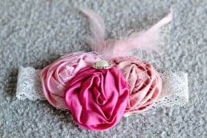 Baby headbands with big flowers
