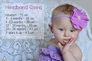 sizing chart for baby headbands
