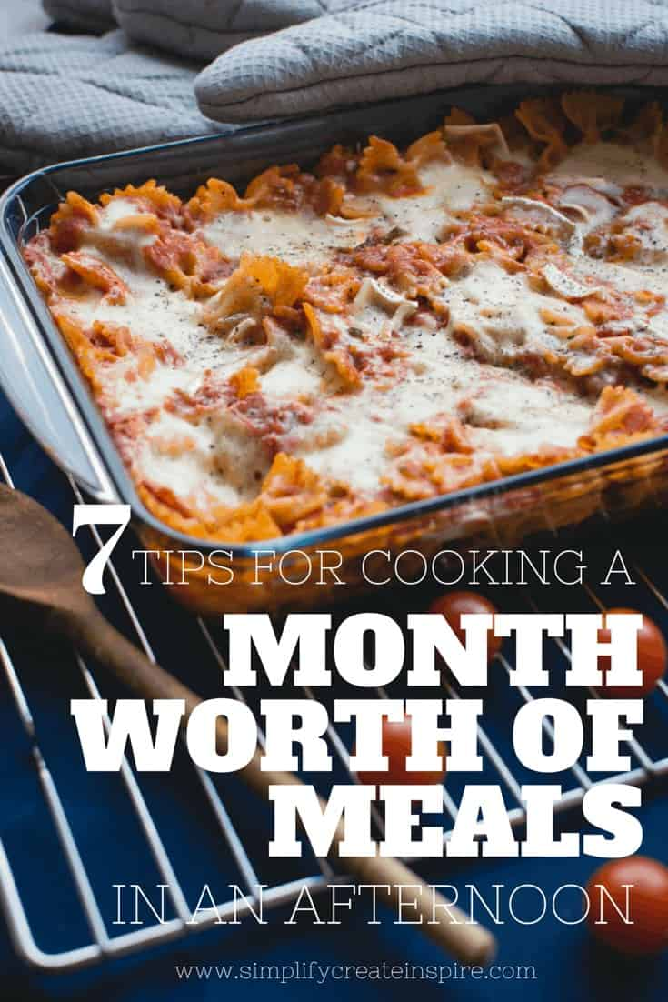 7 tips for cooking a month worth of meals in one afternoon