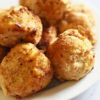 chicken kiev balls with garlic