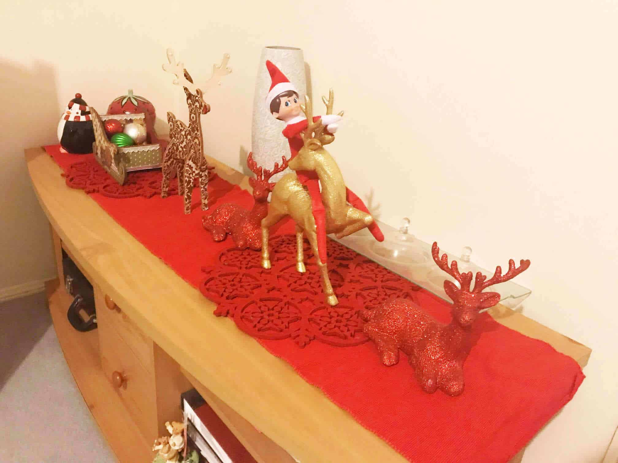 Riding reindeer
