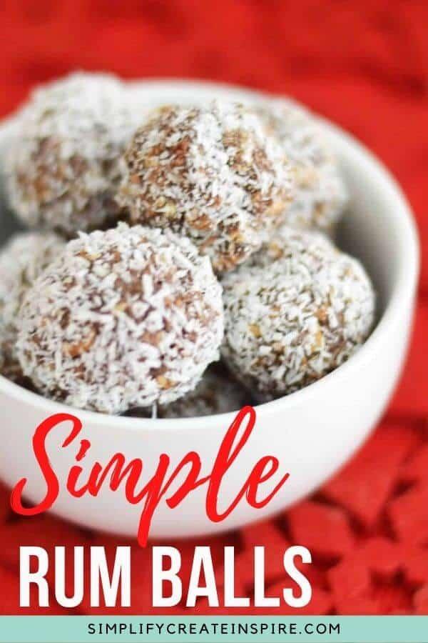 Simple rum balls recipe