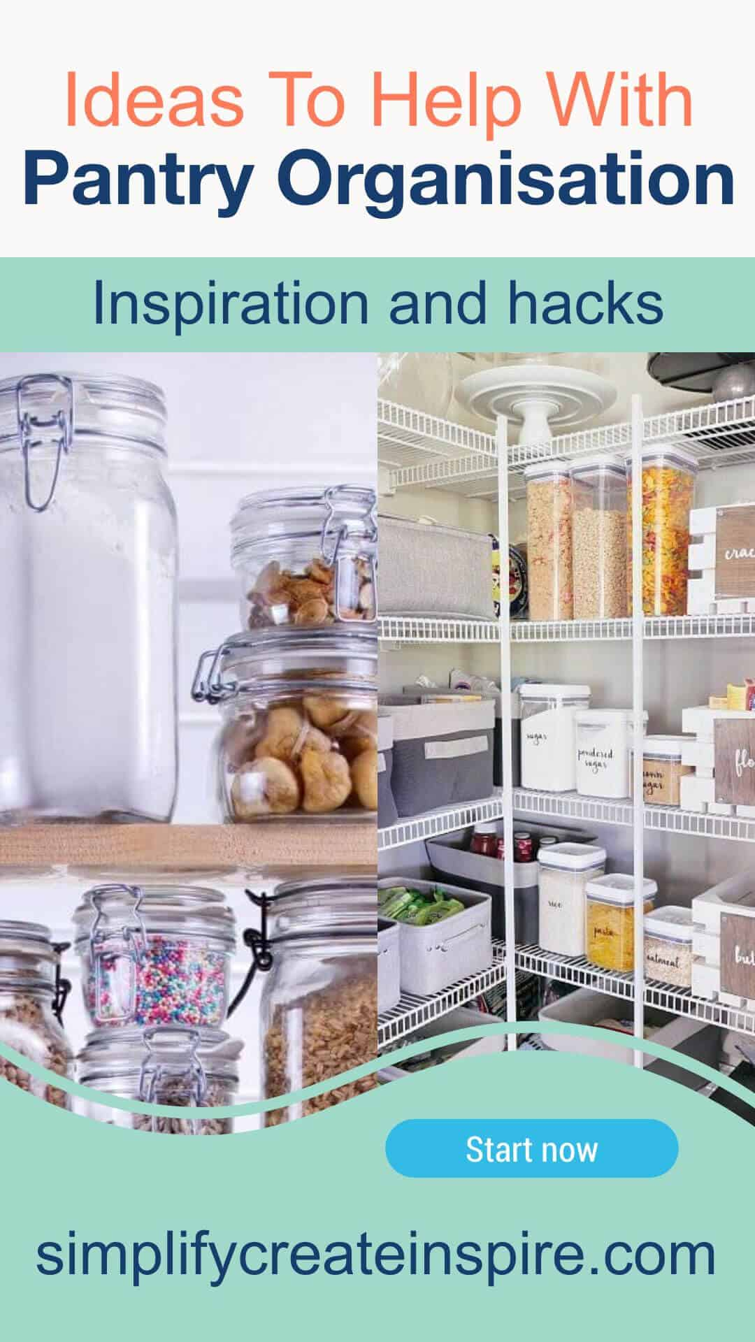 Pantry organisation ideas and hacks