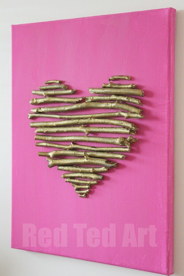 heart canvas gift