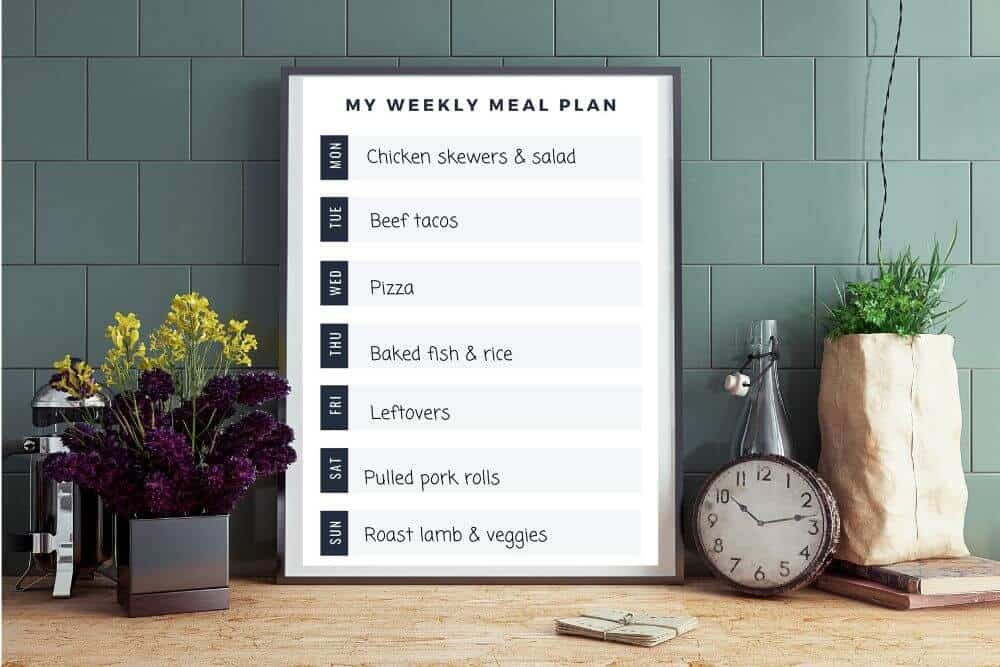 Family meal planning printable