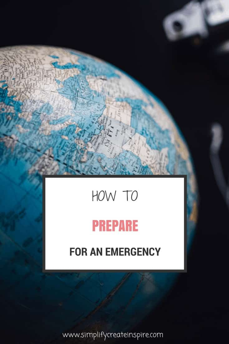 how to prepare for an emergency
