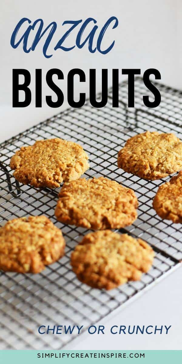 Simple anzac biscuits