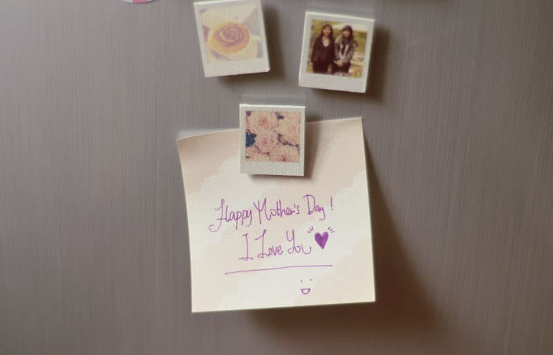 DIY photo magnets mothers day gift