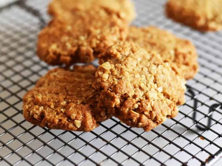 Anzac Biscuits Recipe Chewy Or Crunchy Simplify Create Inspire