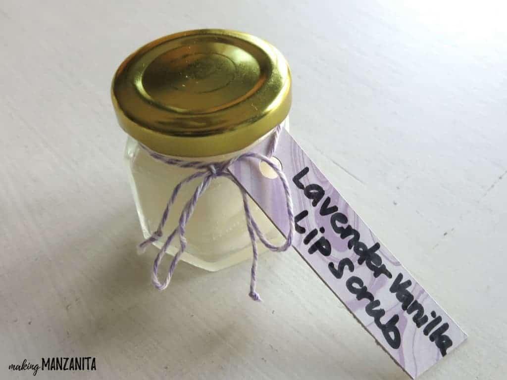 Lavender vanilla lip scrub