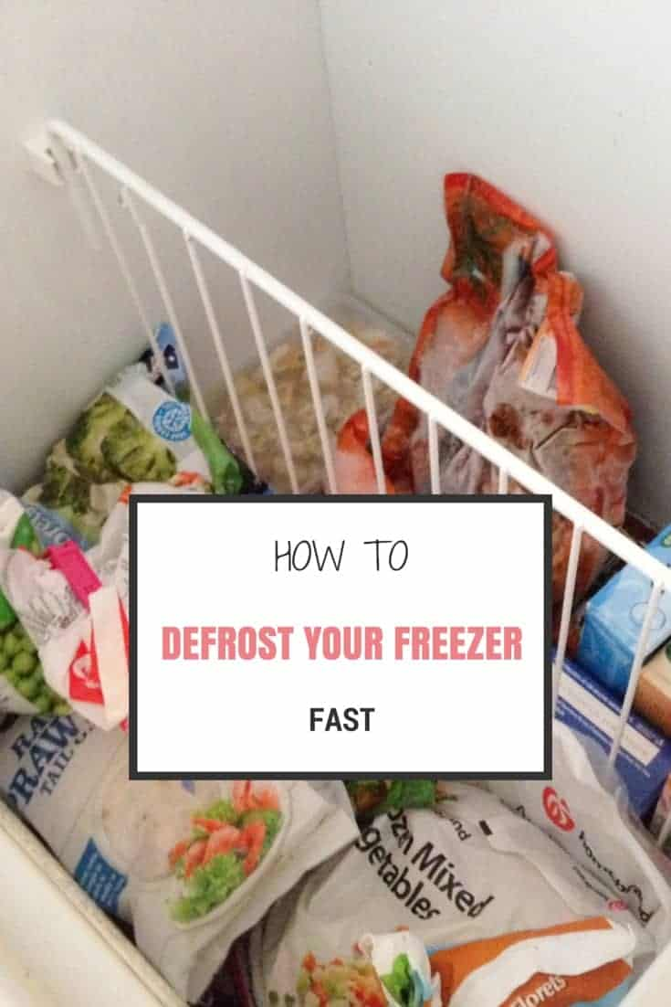 Defrost your freezer fast
