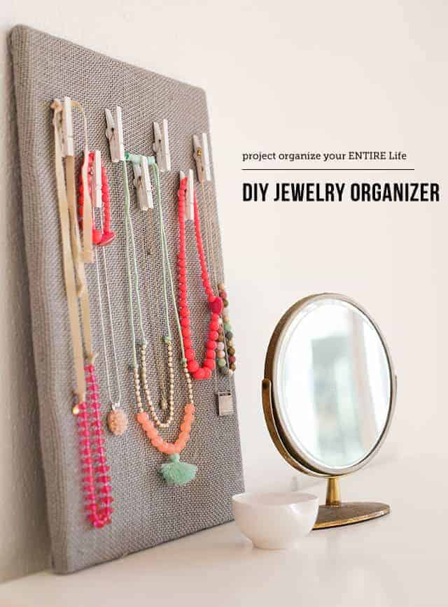 DIY Jewellery organiser board