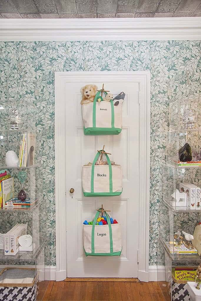 Behind the door storage ideas for toys
