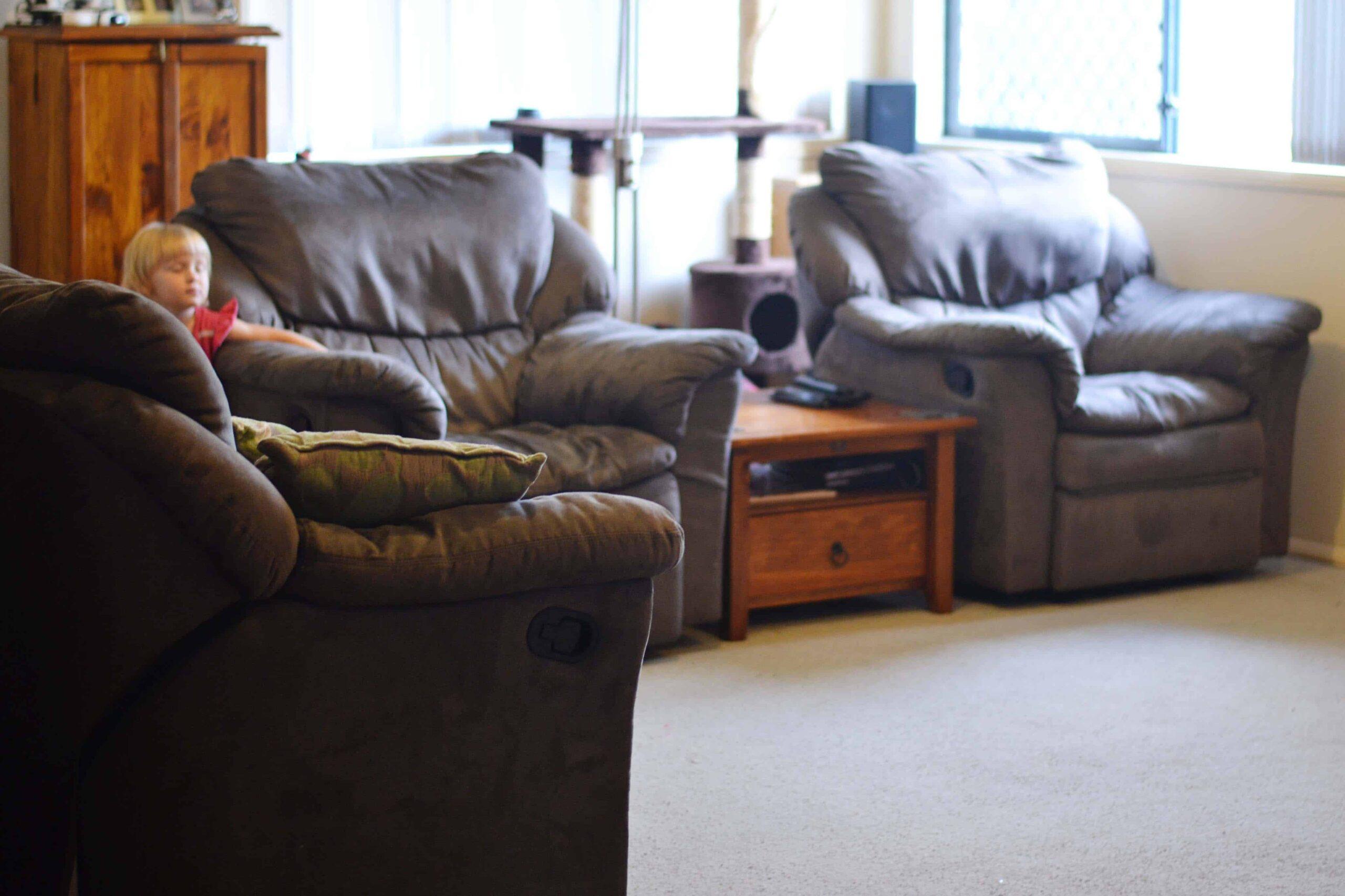 living room declutter