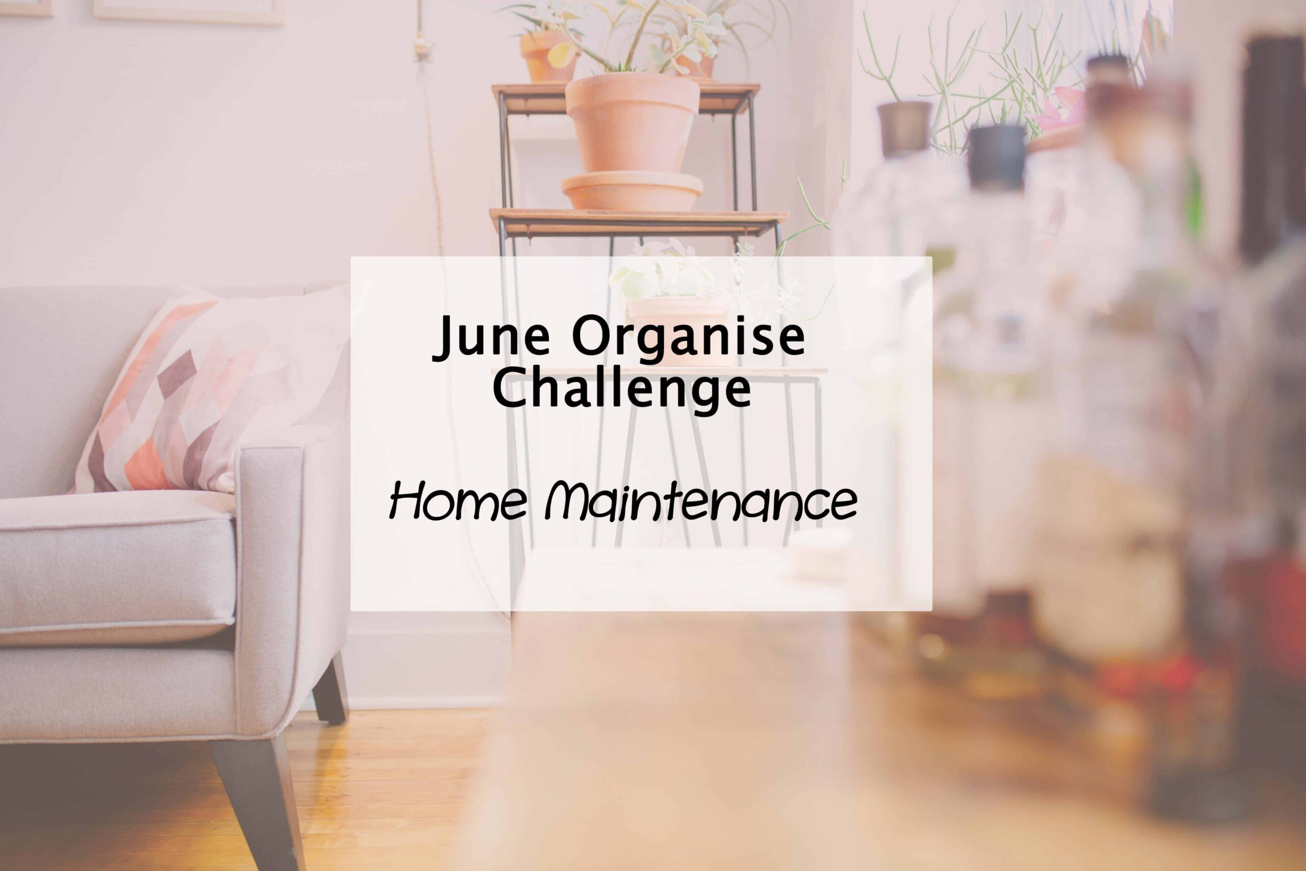 Home maintenance plan