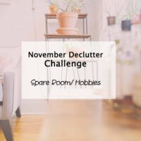 hobbies and spare room declutter