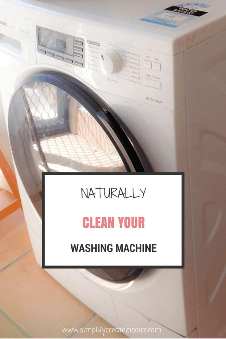 Naturally clean your washing machine