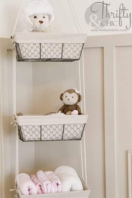 hanging toy baskets for nursery