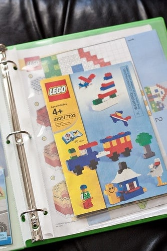 Lego manual storage