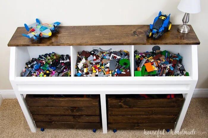 Rustic toy storage unit