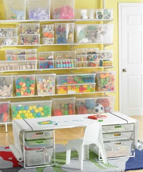 craft room and toy storage containers