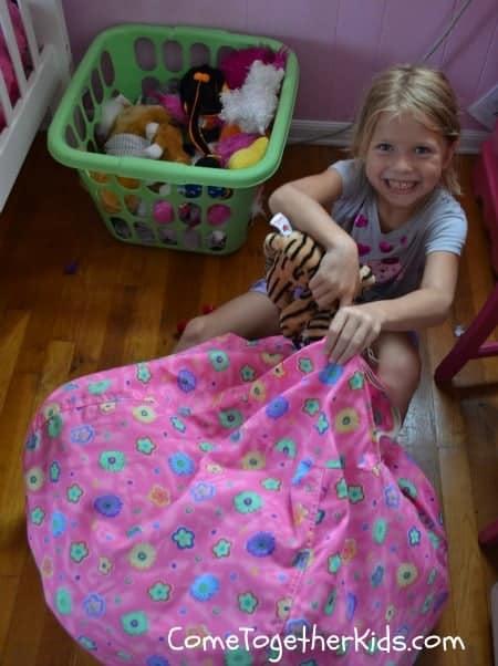 toy storage bean bag