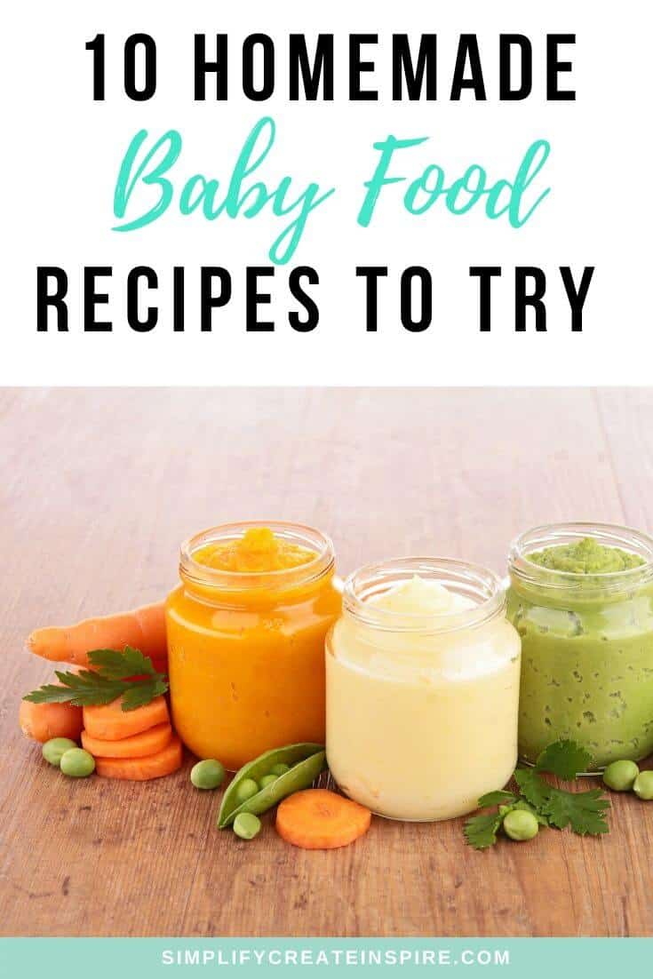 Baby food recipes to make at home
