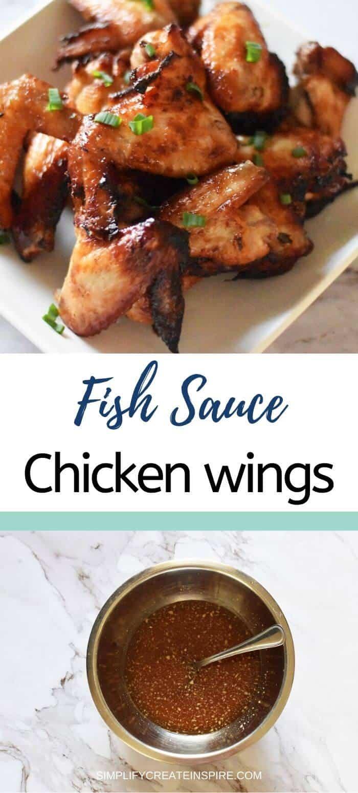 Fish sauce chicken wings in air fryer