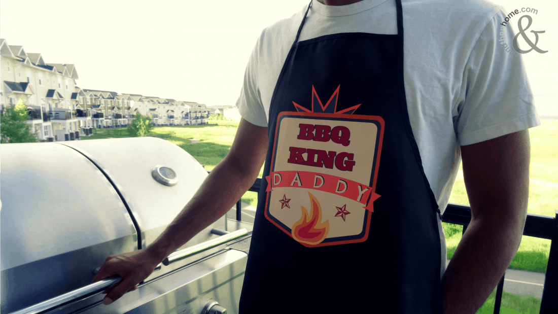 DIY Father's Day gift ideas - custom apron