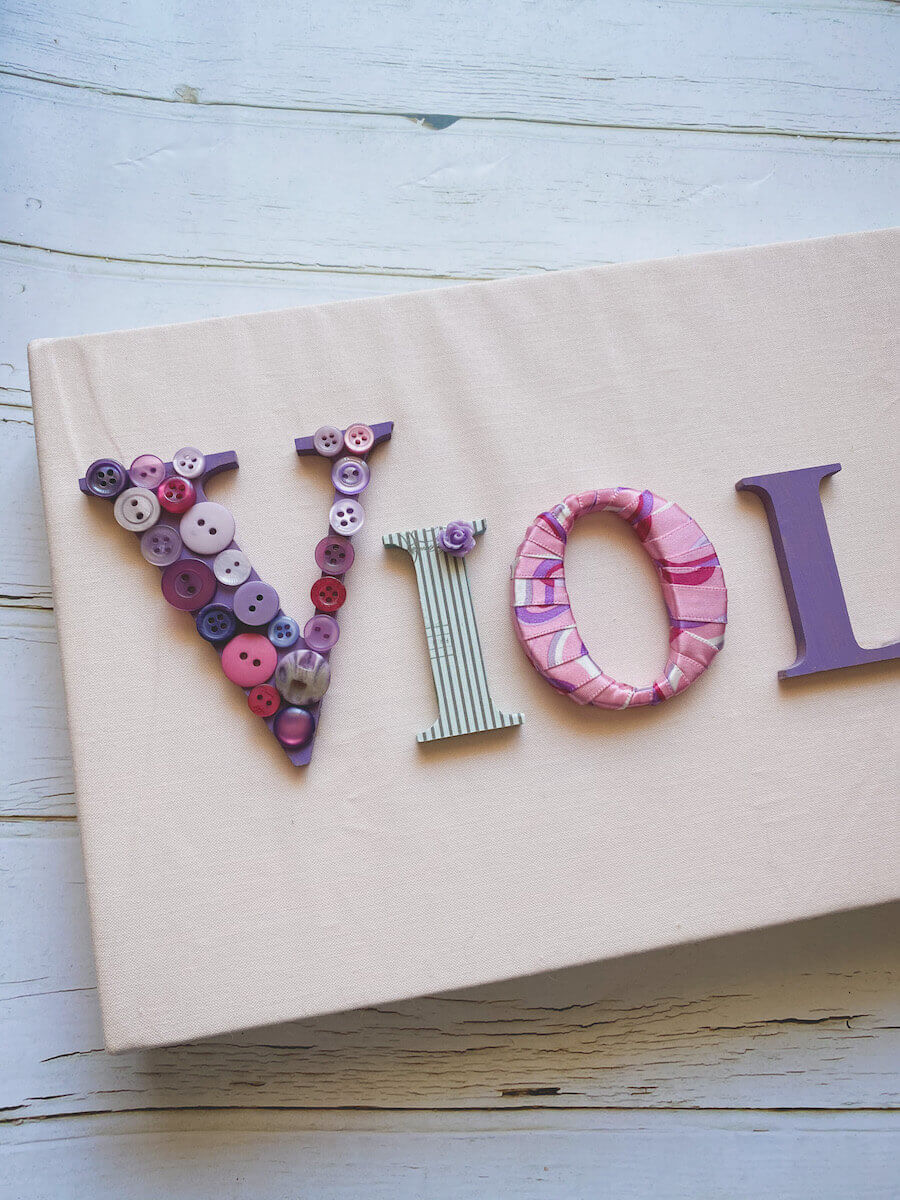 Diy name sign with wooden letters
