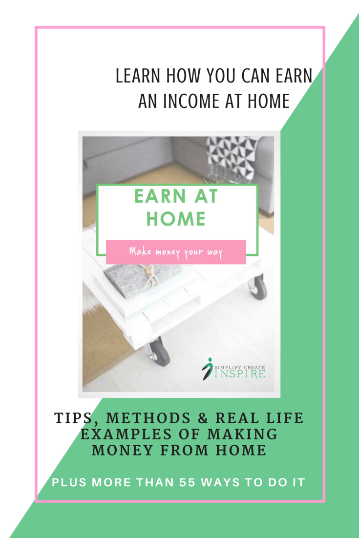 Earn at Home ebook - Learn how you can make money from home with tips, ideas and methods, as well as real life examples