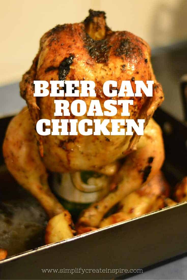 Beer Can Roast Chicken - simple recipe created by my husband and it turns out perfect every time.