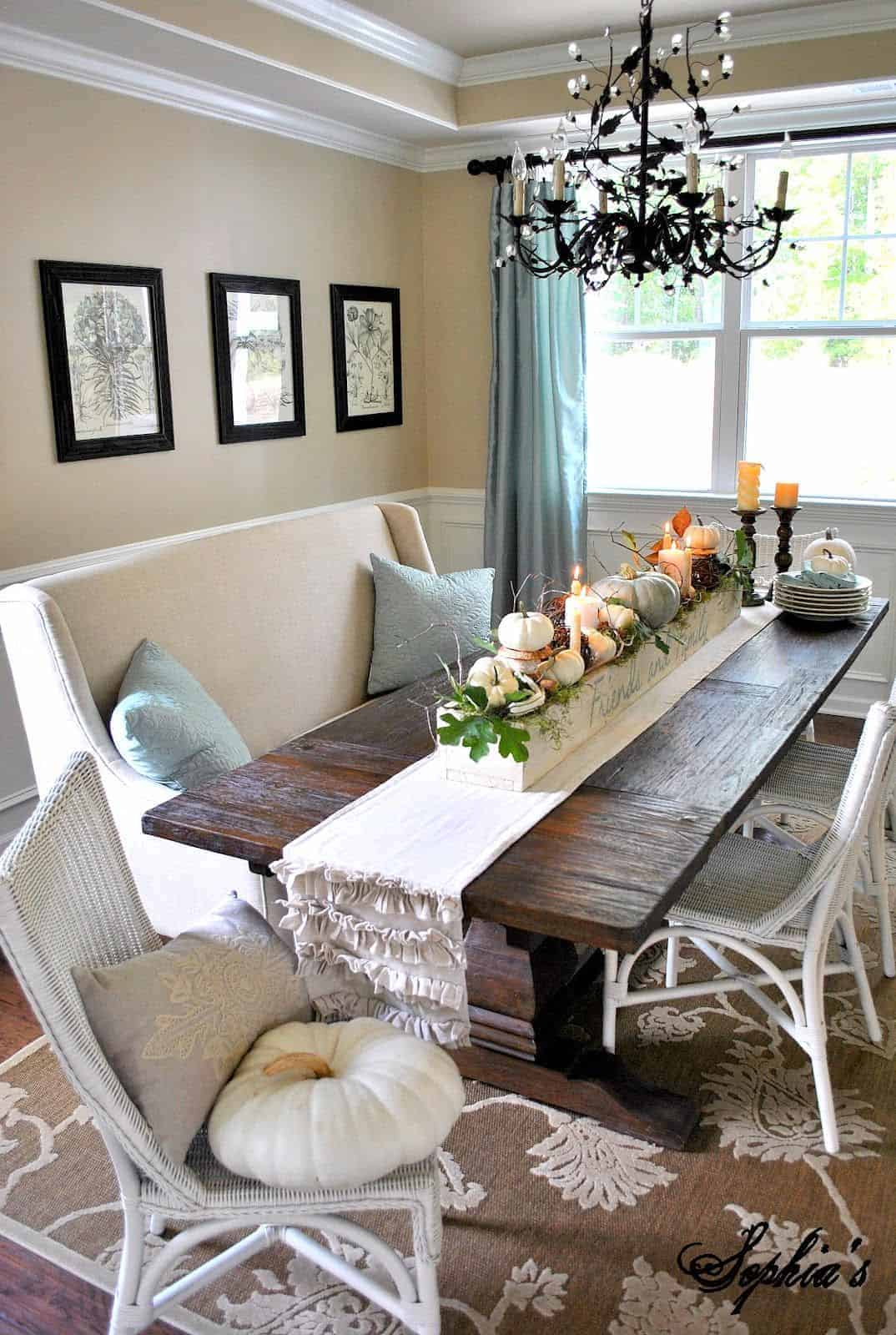Dining room decor - couch