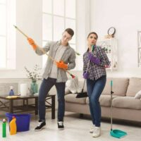 Making cleaning fun together