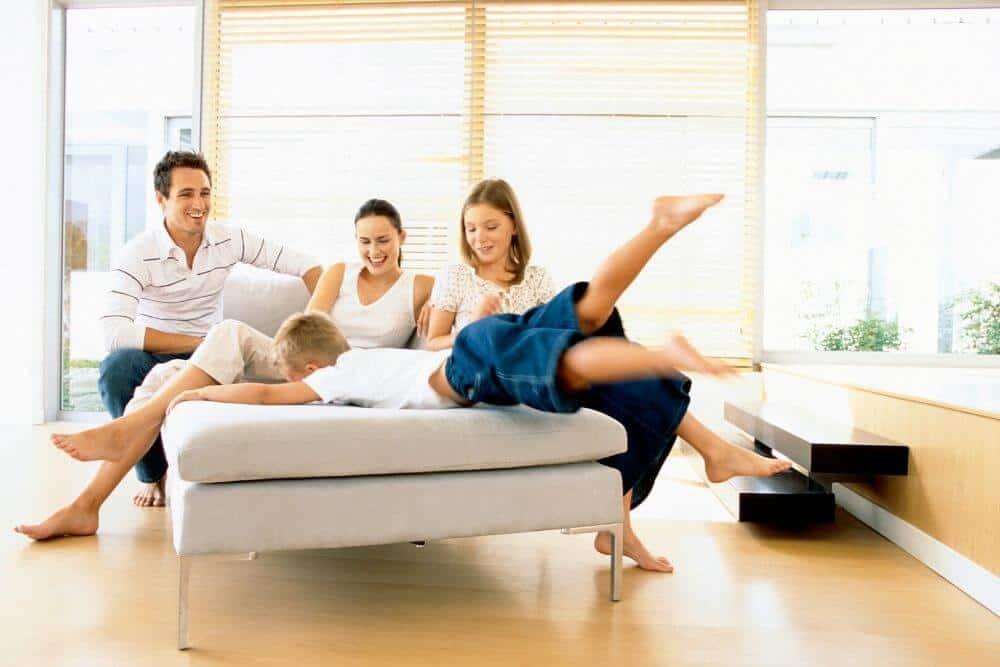 Tech free family fun at home