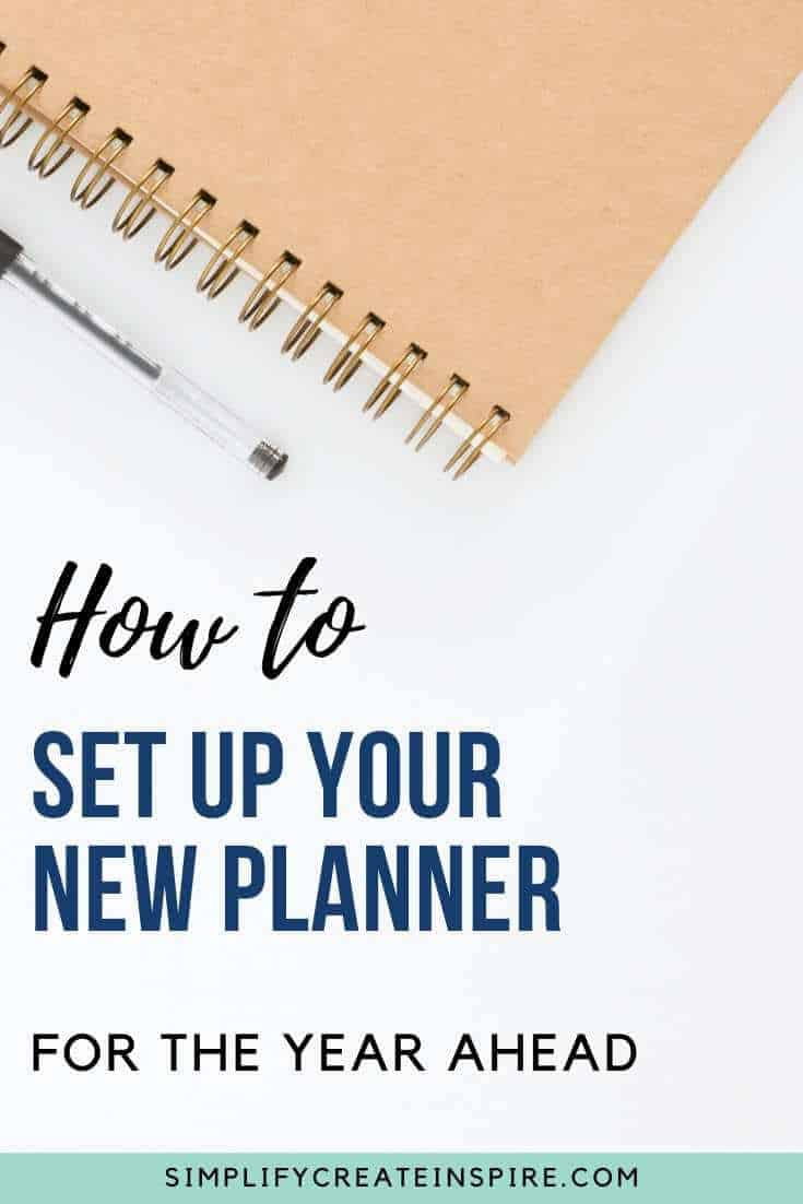 How to set up your planner for the new year