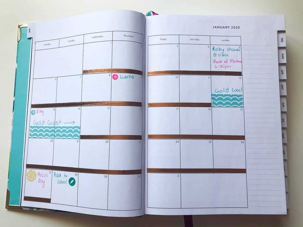 Setting up a new planner