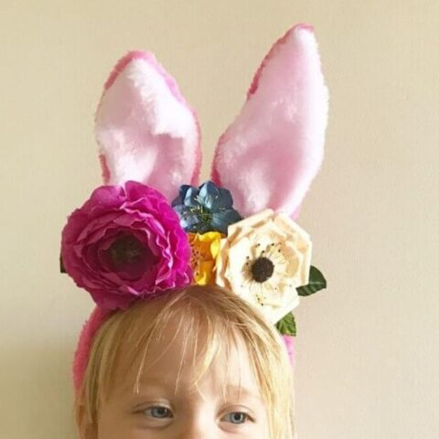 Diy floral easter headband