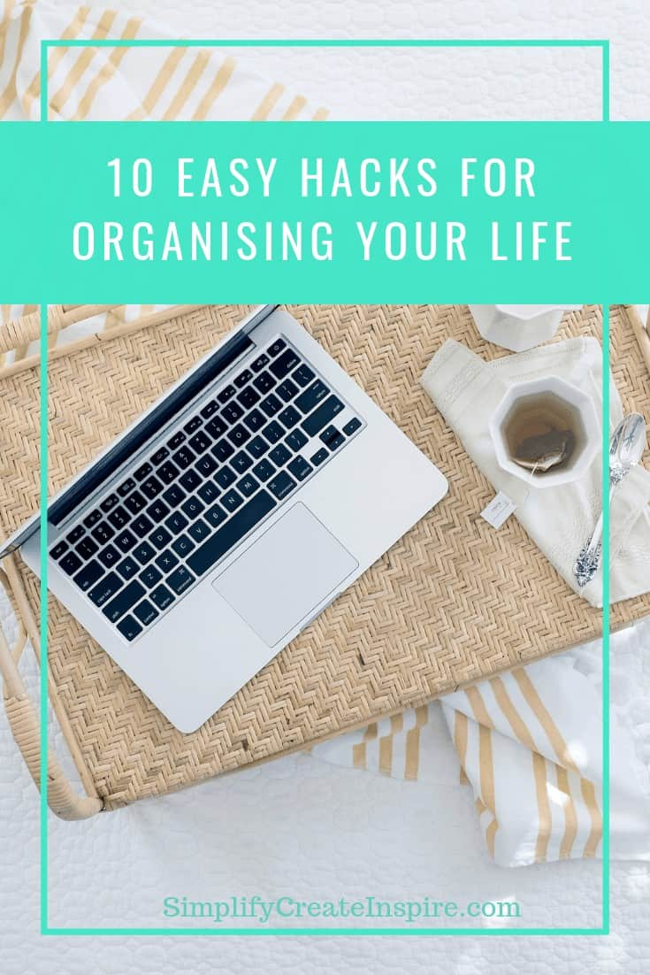 Life admin hacks for organising your life