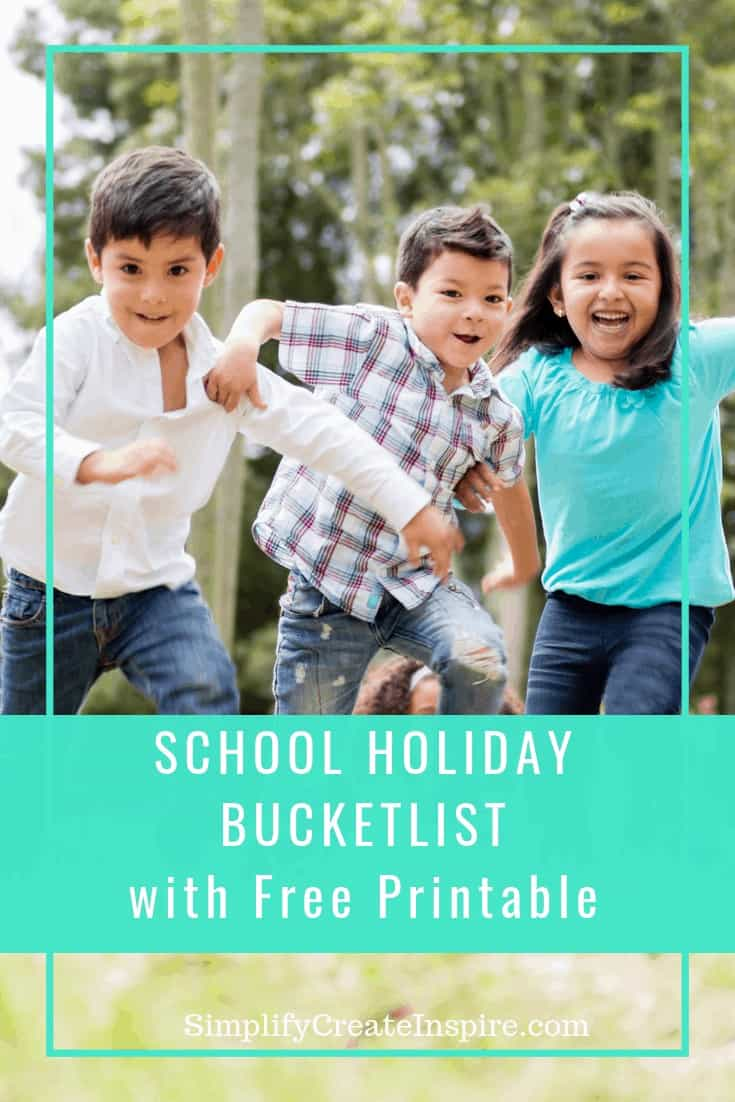 School Holiday bucket list for kids