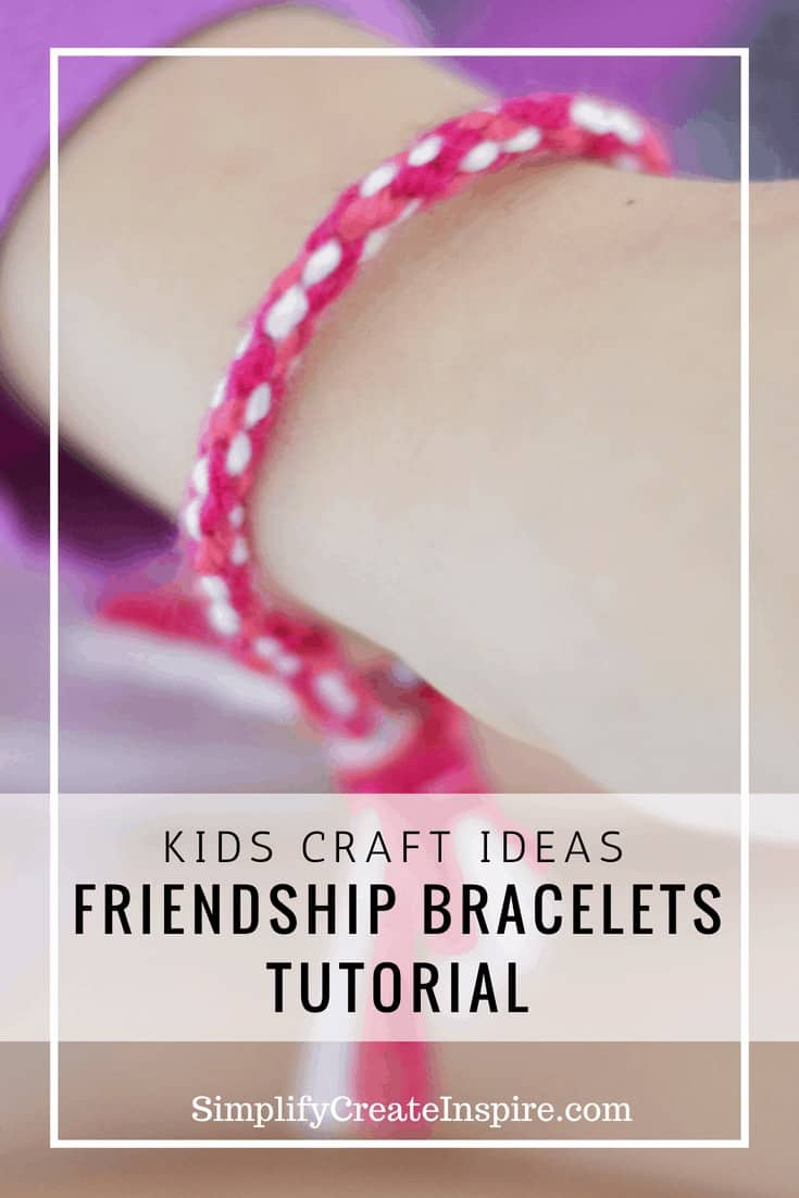 Simple diy friendship bracelets - kids craft ideas
