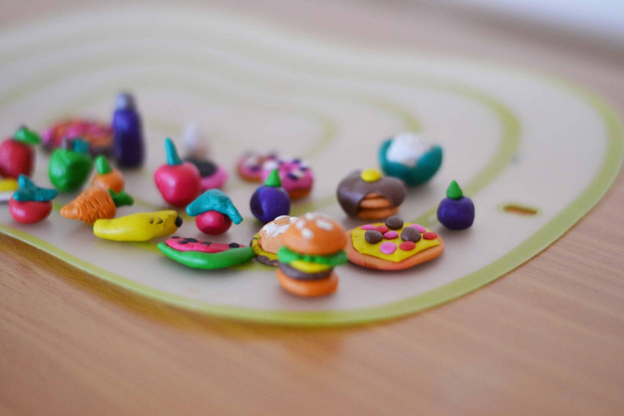 Creating clay miniatures- fun kids craft ideas