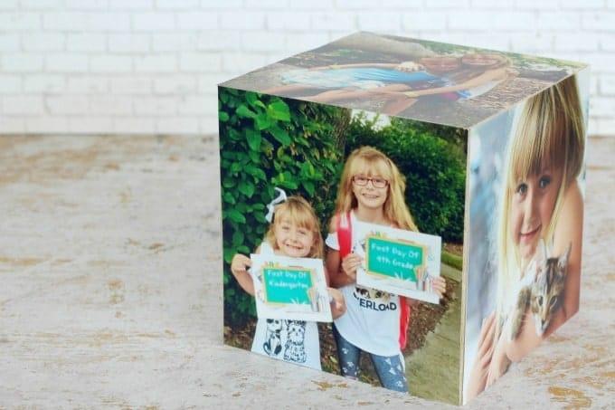 DIY photo cube gift