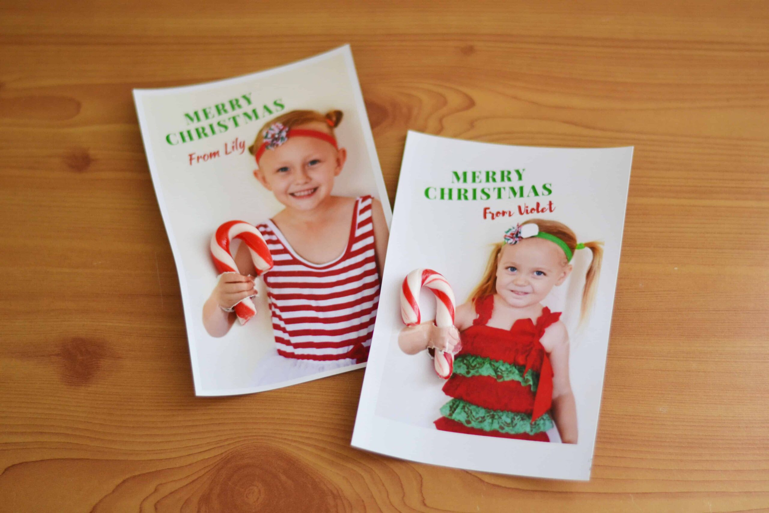 DIY Christmas Postcards With Photos