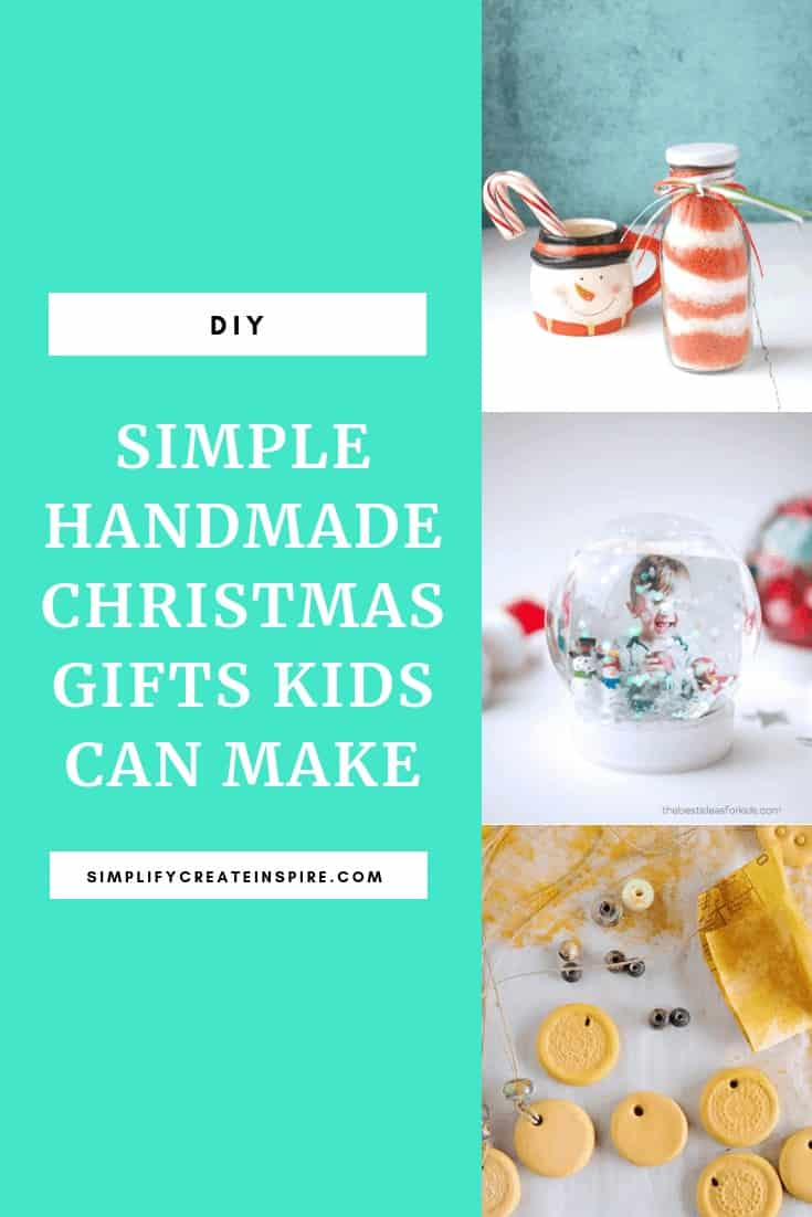 Simple handmade christmas gifts kids can make