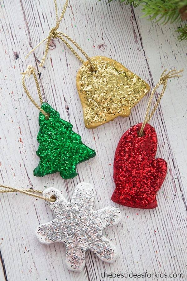 Glitter salt dough ornament