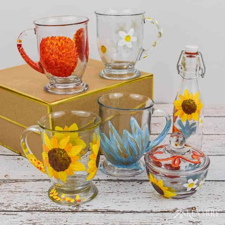 painted glassware gifts