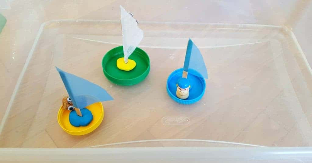 sail boats from lids