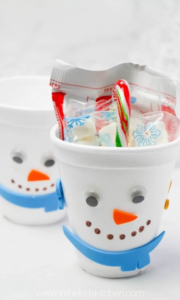 Snowman hot chocolate gift