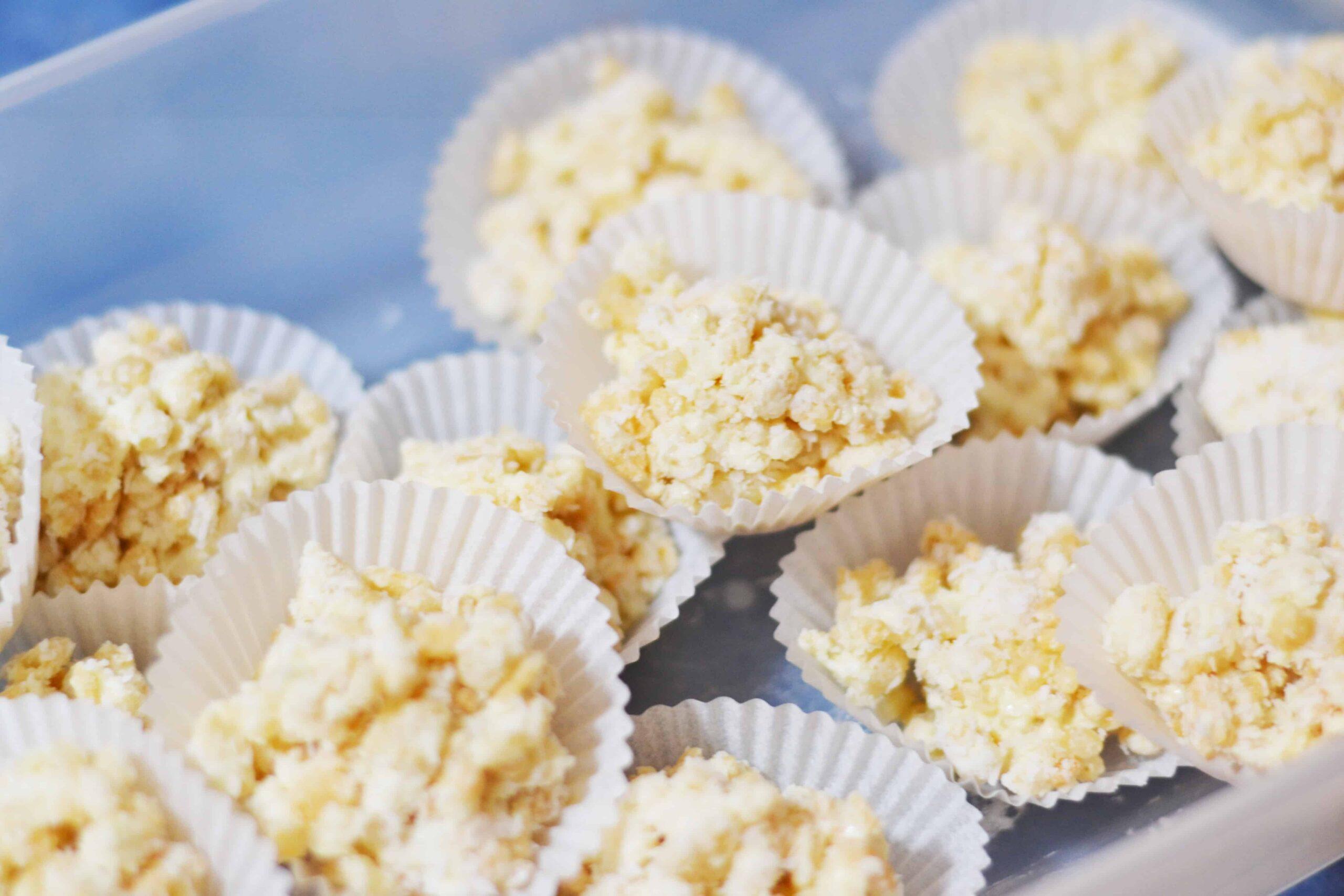 White chocolate crackles no copha recipe